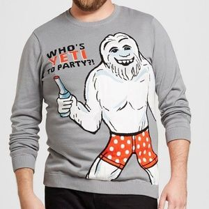 Other - Men's 2X Whos YETI to party Sweater Christmas